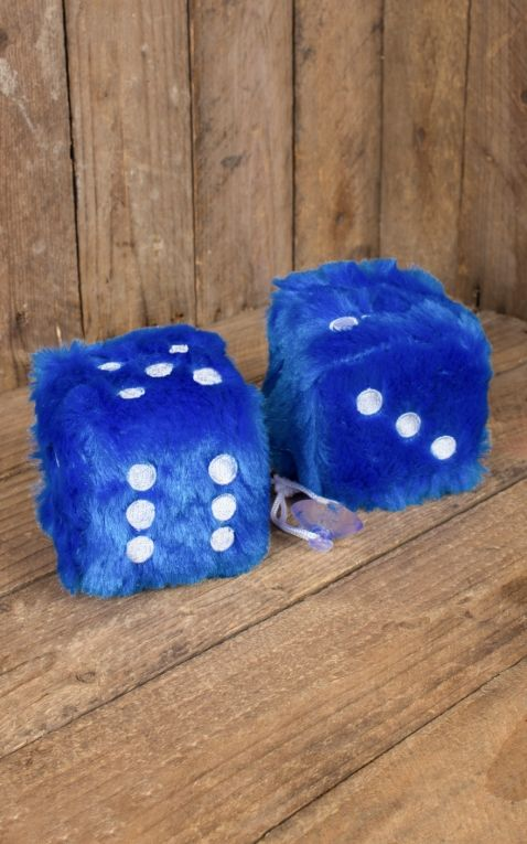 Fuzzy Dice, dark blue white