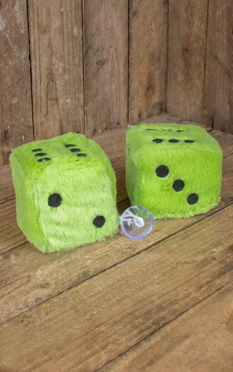 Fuzzy Dice, light green black