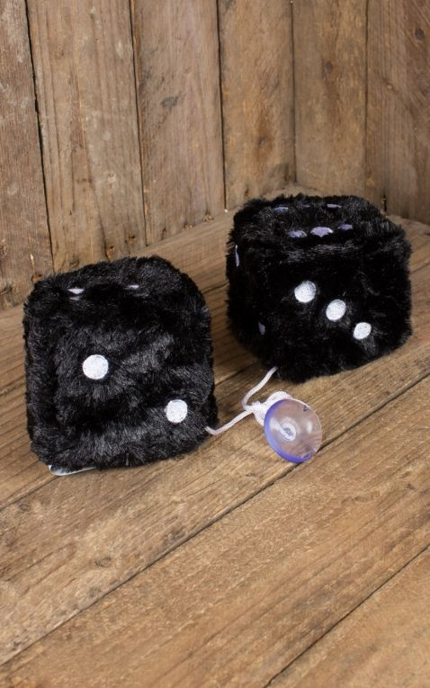 Fuzzy Dice, black white