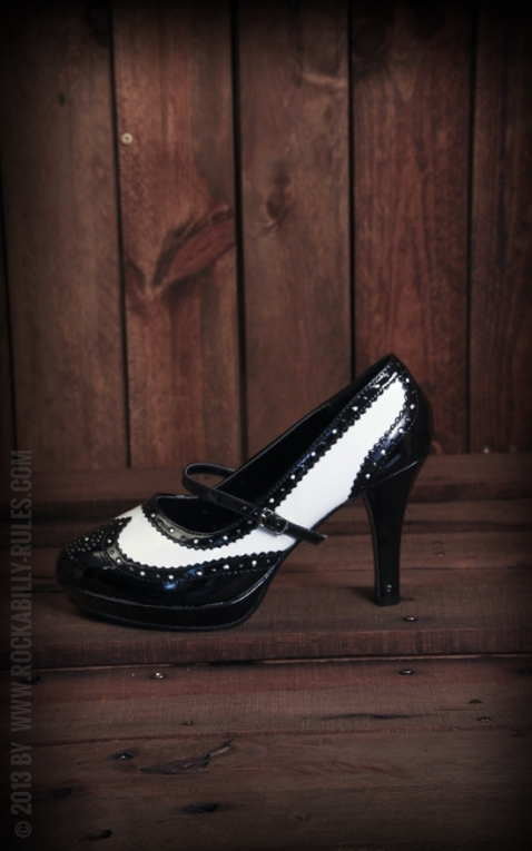 Mary Janes Gangster Black/White