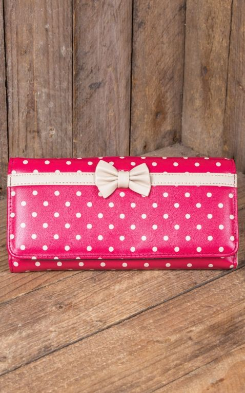 Banned Wallet Vintage Polkadot Carla, red