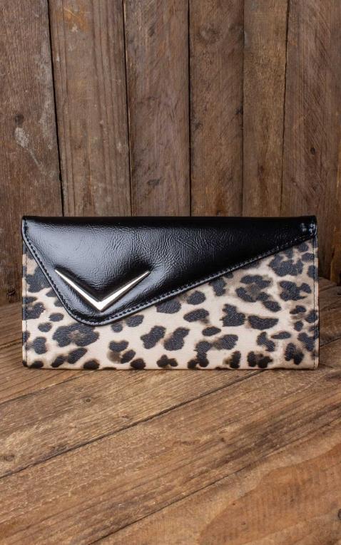 Liquor Brand - Geldbörse Vega Clutch Leopard