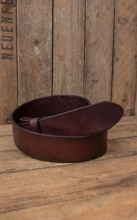 Leather Belt dark coffee brown
