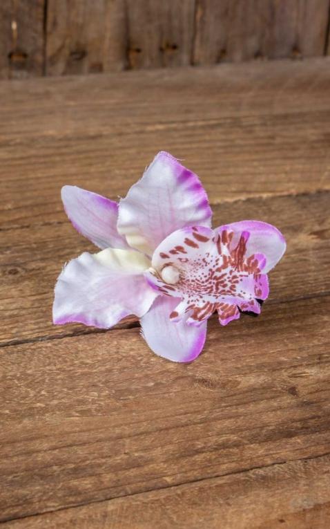 Pince à cheveux Orchidée Fleur dHawaii, violet
