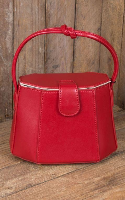 Collectif Sac à Main 50s Felicity Box Bag, rouge