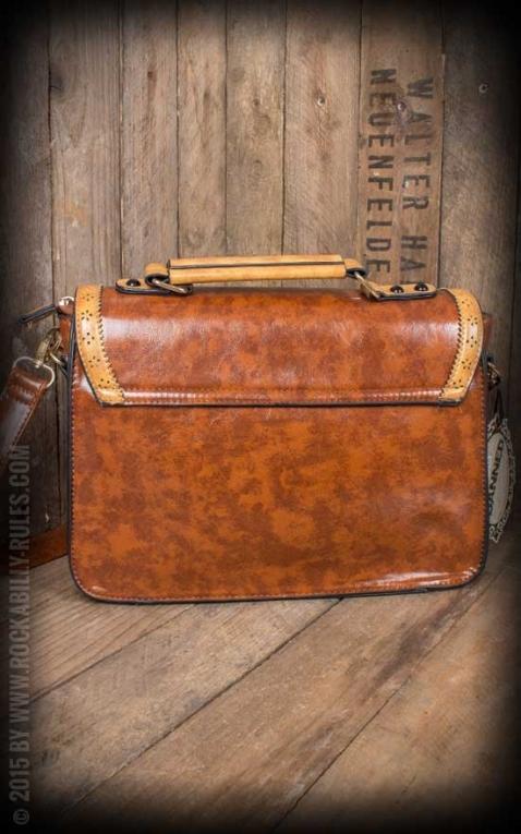 Handtasche - Vintage mit Schleife, braun
