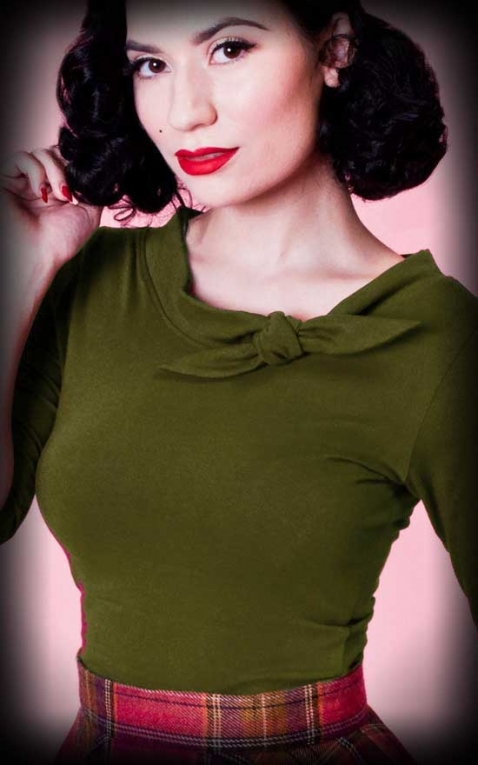 Heart of Haute - Top Femme Lily, olive