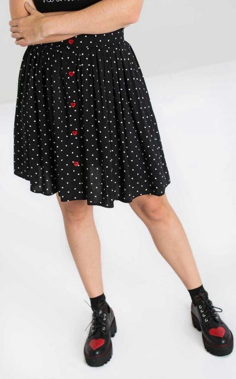 Hellbunny Swing Skirt Polkadot Allie Hearts