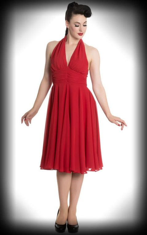 wholesale dealer 1066a d07ec Hell Bunny - Neckholder Kleid