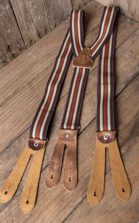 Rumble59 - Suspenders - colour combination brown