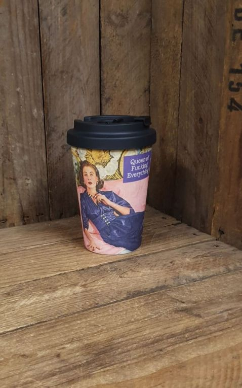 Travel Cup Bamboo - Queen of fucking everything