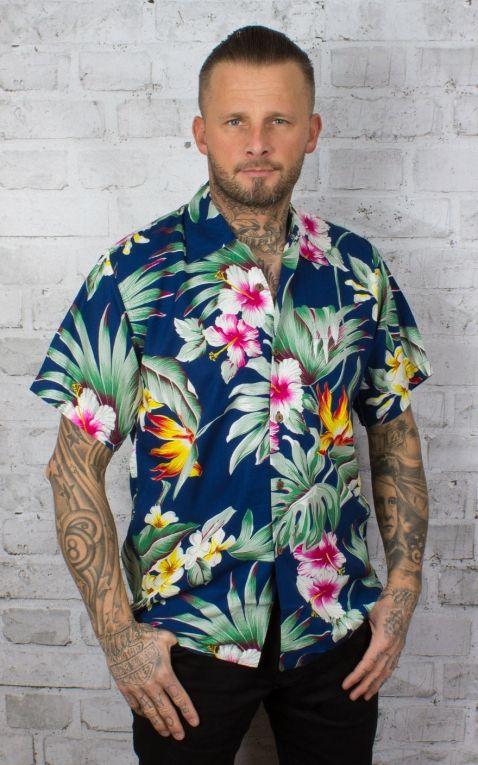 Karmakula Hawaiian Shirt - Montana, Blue