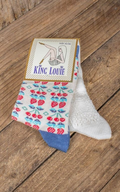 King Louie - Strümpfe - Socken Strawberry Cream