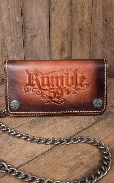 Rumble59 - Leder Wallet sunburst handmade