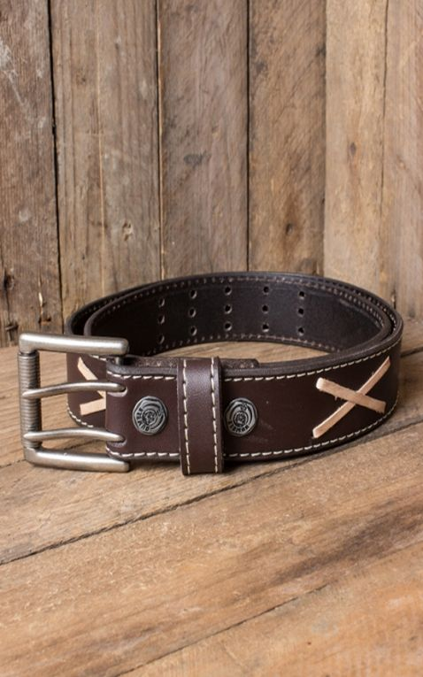 Leather belt - Marlon Brando, brown