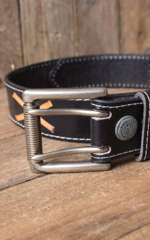 Leather belt - Marlon Brando, black
