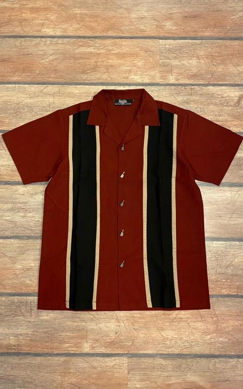 Letzte Chance - Rumble59 - Classic Shirt - Two Stripes RedWine II