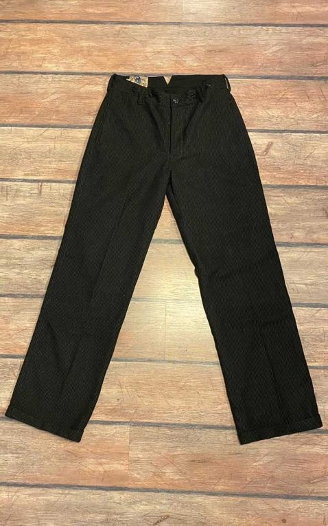 Letzte Chance - Rumble59 - Vintage Loose Fit Pants Sacramento - gestreift schwarz/grau