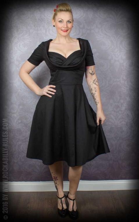 Lindy Bop - Swing dress Sloane, black