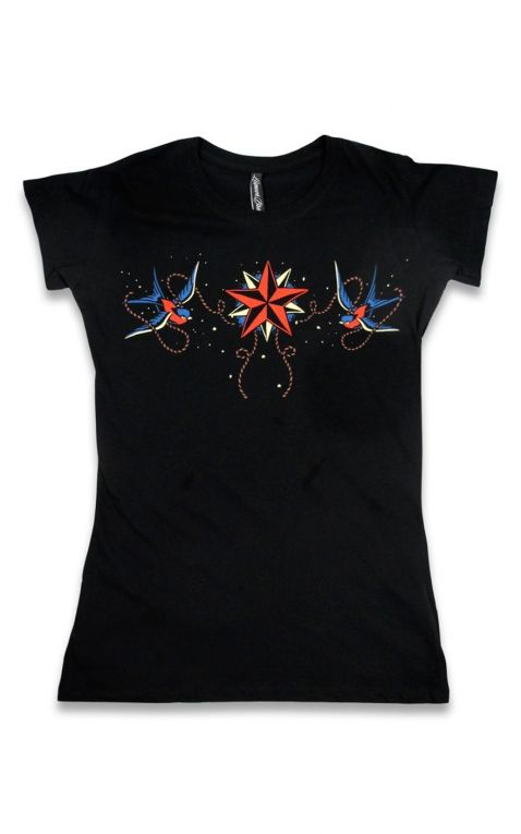 Liquor Brand T-Shirt Femme - Nautical Star