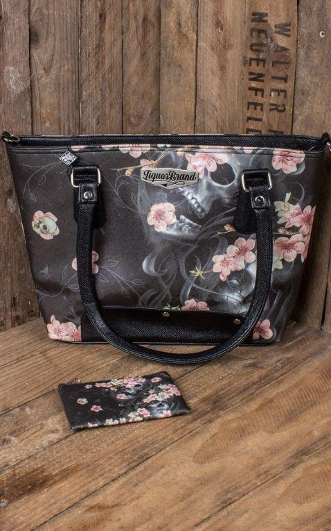 Liquorbrand Set Handtasche und Münzgeldbeutel Sakura