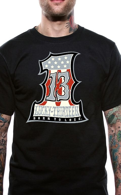 Lucky13 T-Shirt Homme - Numero Uno