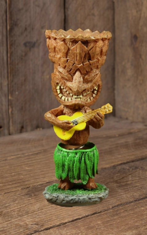 Miniature Dashboard Hula Doll -  Tiki Ukulele
