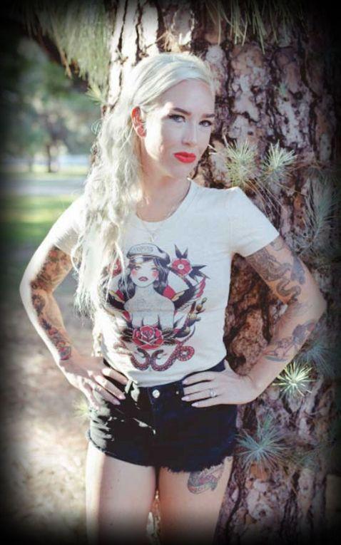 Mischief Made - T-Shirt Femme Biker Girl