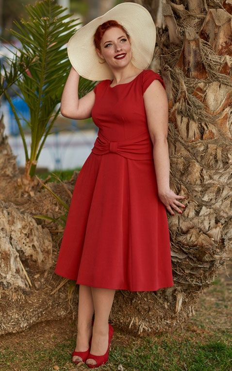 Miss Candyfloss Swingkleid Angelina, rot