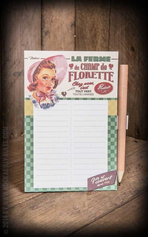 Magnet-Notizblock - La ferme du champ de Florette
