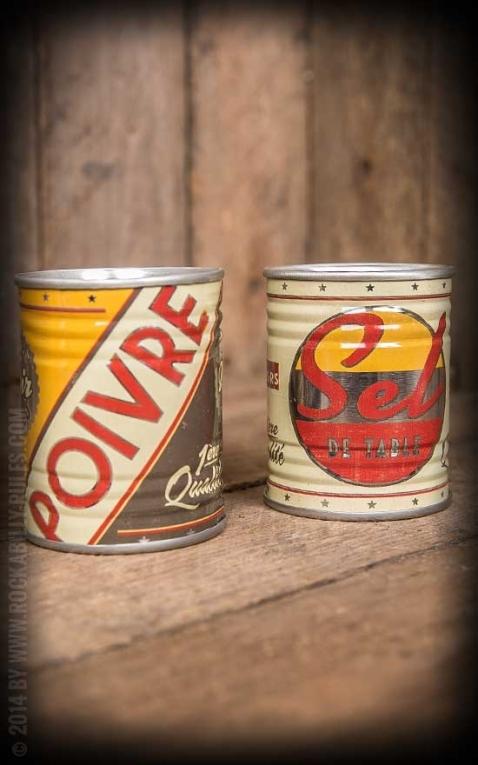 Saliére et poivriére - Enseignes Vintage