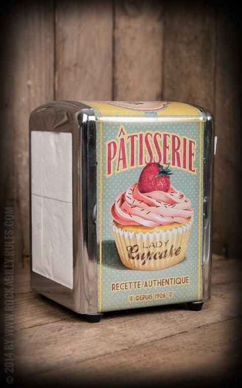 Napkin Dispenser - Lady Cupcake