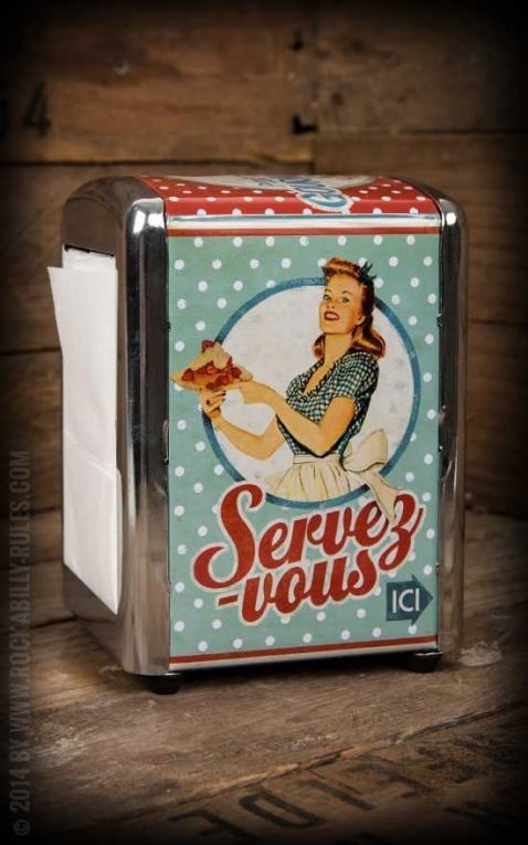Napkin Dispenser - Miss Fifties