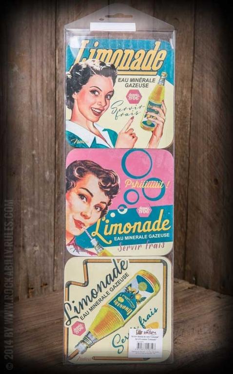 6er Untersetzer Set - Limonade