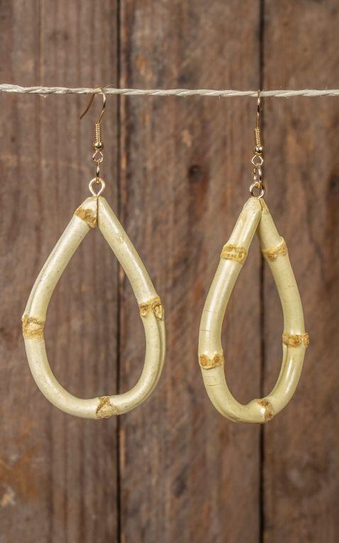Ohrringe | Ohrhänger aus Bambus, oval