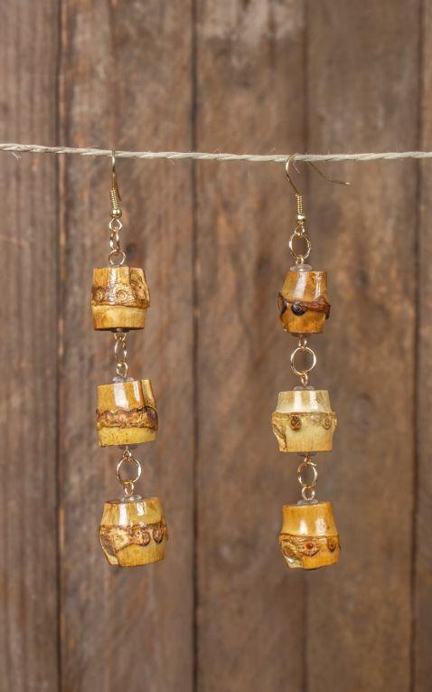 Ohrringe | Ohrhänger Tiki aus Bambus
