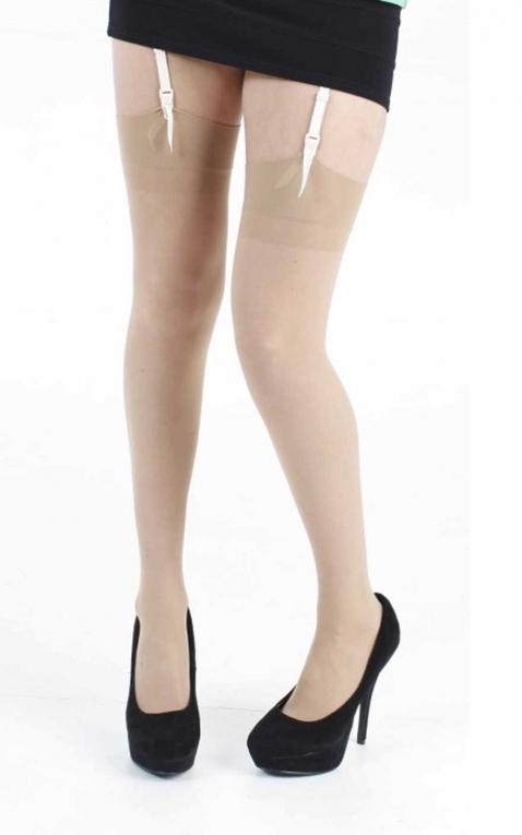 Pamela Mann Nylon stockings, 15 Denier nature