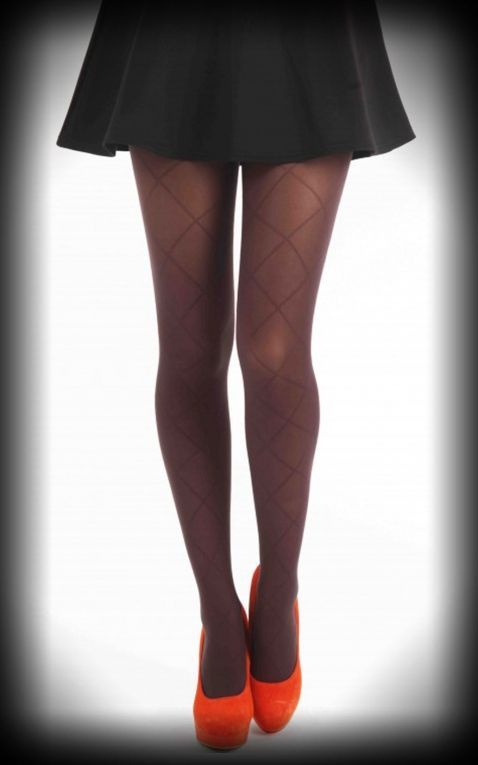 9b4ebd282 Nylon Tights Large Diamond chocolate