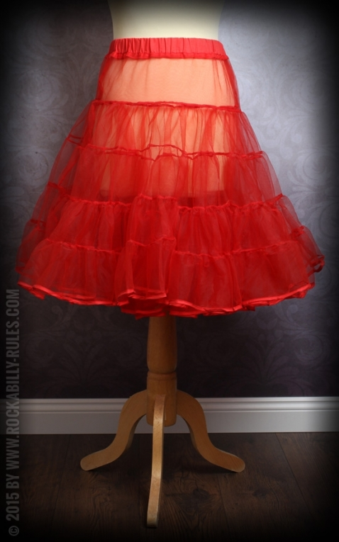 50er Jahre PinUp Petticoat - rot