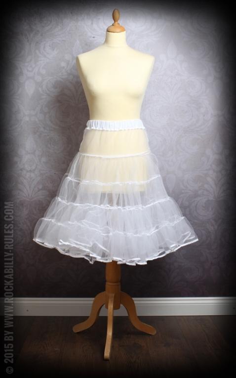 50er Jahre PinUp Petticoat - weiß