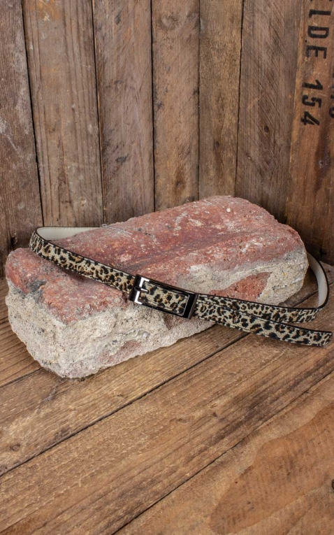 Collectif Pin-Up Ceinture Leopard Tommy Thin Belt