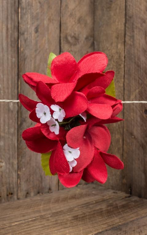 Plumeria HairClip Cherry Red