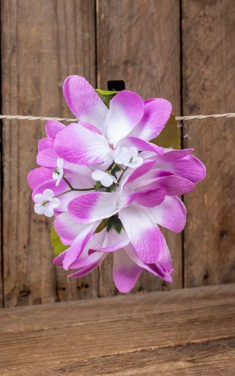 Plumeria Pince à cheveux rose vif