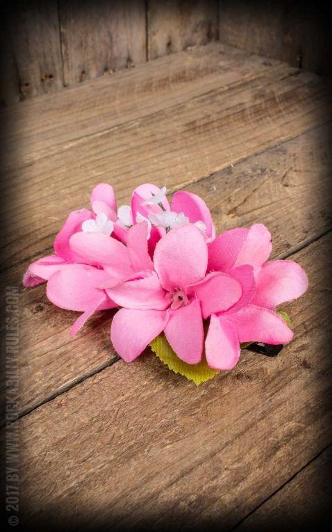 Plumeria HairClip Light Pink