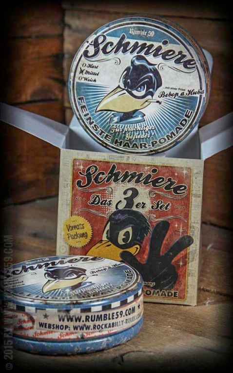 Rumble59 - Schmiere Pommade - Set de 3- moyenne dure