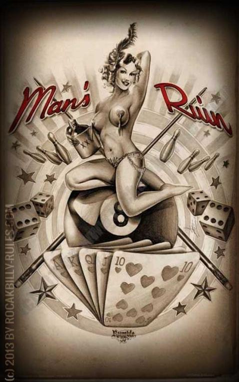 Rumble59 Poster - Mans Ruin