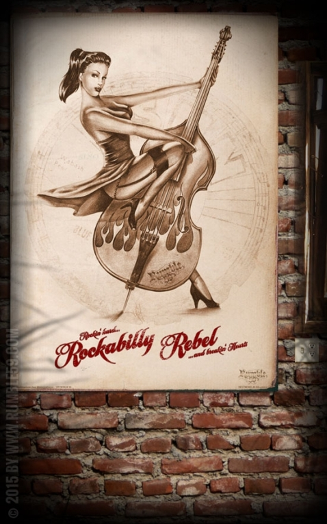 Rumble59 Poster - Rockabilly Rebel