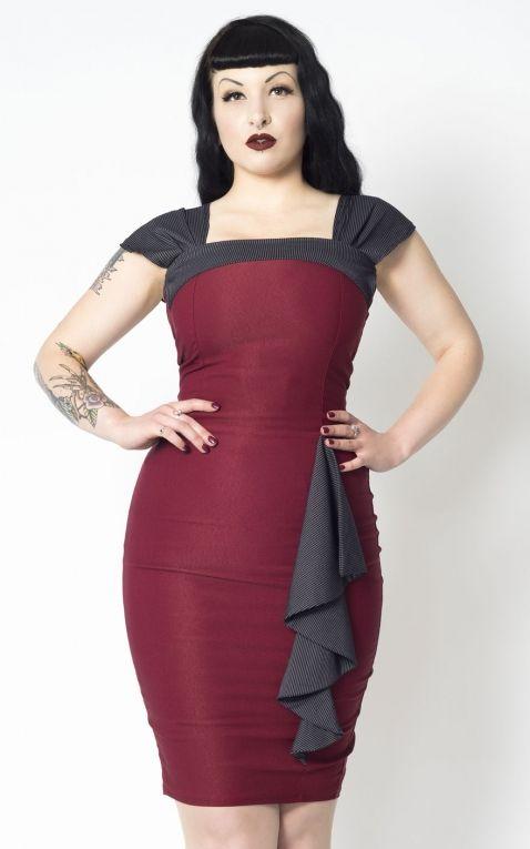 Putre Fashion Pencil Skirt Dress Love Affair, bordeaux