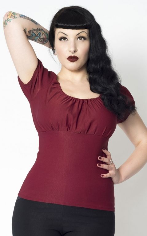 Putre Fashion Trixie Top, Burgundy
