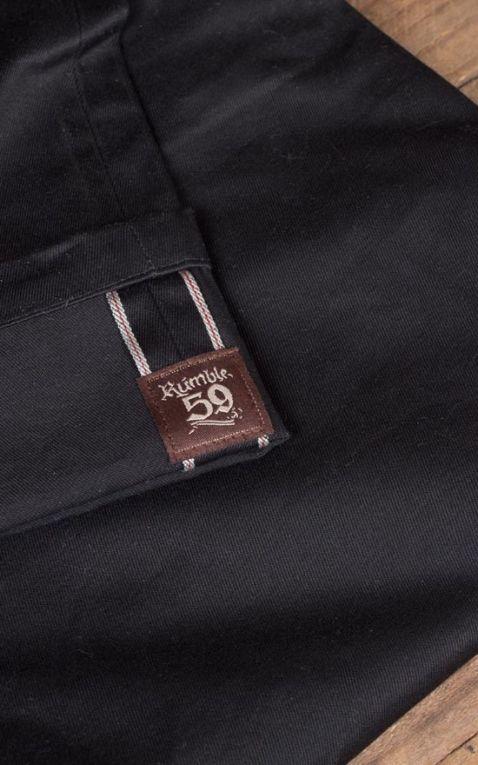 Rumble59 - Selvage Chino Shorts California - schwarz